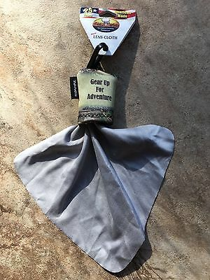 (3) Crooked Horn Outfitters Spudz Lens Cleaning Cloths With Tan & Camo Clip Bag