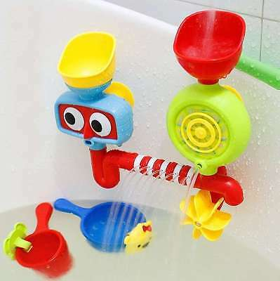 Bath Toys Water Faucet Taps Automatic Spout Spray Shower Play For Kids Baby USA