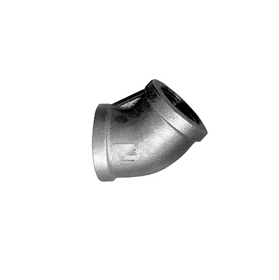 45 Degree Elbow 1/8 NPT Female FIP Black Iron Pipe Fitting