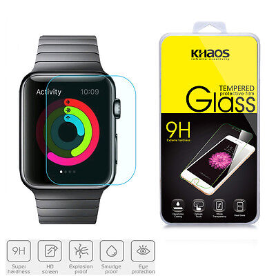 Slim Clear Tempered Glass Screen Protector for Apple Watch 38mm