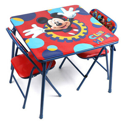 Kids Table and Chair Set Children Girls Activity Mickey Mouse Craft Drawing Desk