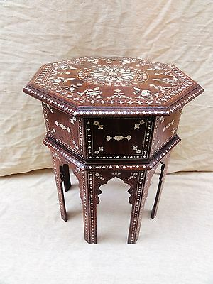 Fine Quality Inlaid Anglo Indian Rosewood Table From Mysore
