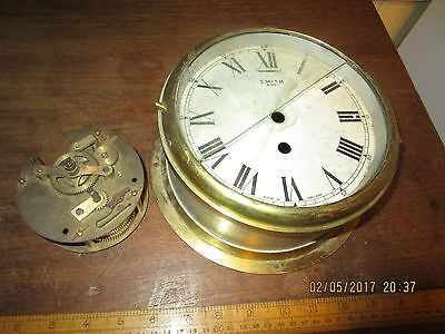 Smiths 8 Day keywind Astral Coventry Ships Bulkhead Clock .Coventry 156 movement
