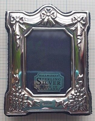 Vintage, Hallmarked Sterling Silver, Small Frame, Made In England . . .