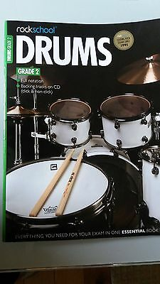 Rock School Drums 2012 -  Grade 2 with Sheet Music & CD- Excellent condition