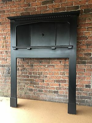 Beautiful Fireplace Original Edwardian Solid Oak Fire Surround  DEL £25 Max
