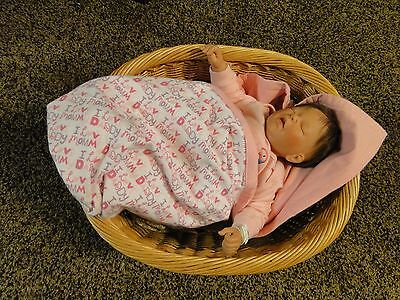 Handmade Double Flannel Baby Girl, Machine Quilted Blanket,Quilt,Nursery,Swaddle