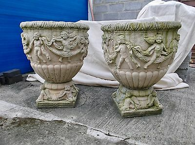 A Pair of Vintage Garden Planters/Urns