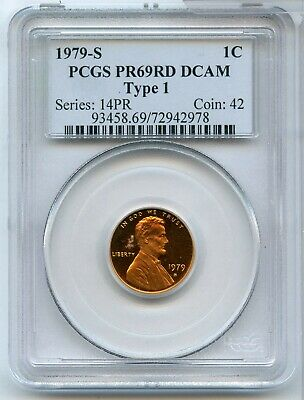 1979-S Proof Lincoln Memorial Cent PCGS PR 69 RD DCAM Type 1 San Francisco MM619