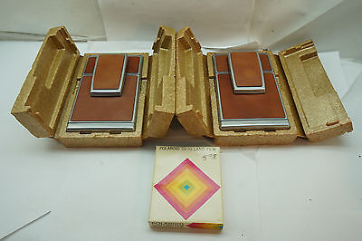 VINTAGE POLAROID CAMERA SX-70 SX70 LOT OF 2 IN ORIG BOX WITH FILM 1970s LAND