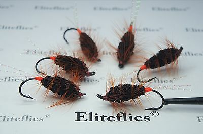 6 x Eliteflies Bomber fly fishing flies salmon sea trout dry fly steelhead lure