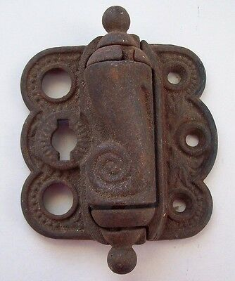 Antique  Eastlake Victorian Cast Iron Spring Loaded Door Hinge