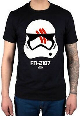 MENS OFFICIAL STAR WARS STORMTROOPER FN-2187 BLACK T SHIRT TOP Size S