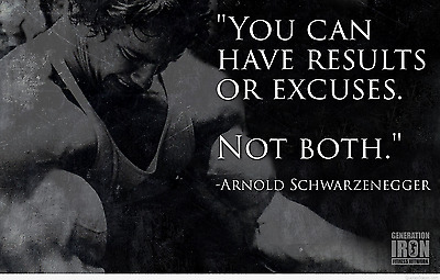 Arnold Schwarzenegger Conquer bodybuilding gym Workouts  poster Choose your Size