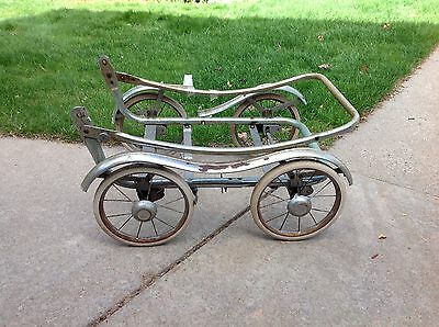 Vintage Metal Stroller Buggy Frame and Wheels