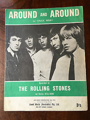 THE ROLLING STONES - Around and Around. Australian Sheet Music