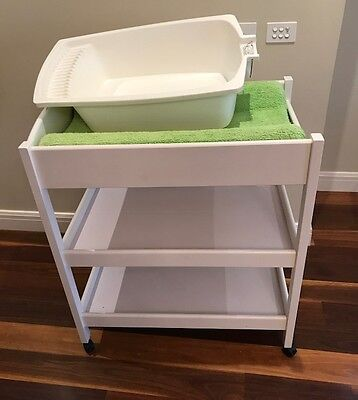 Cosmo 3 Tier Royal Sleigh Baby Change table White/Walnut