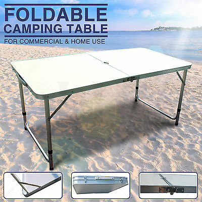Folding Aluminum Camping Table Potable Picnic Adjustable Dining Outdoor 4FT New