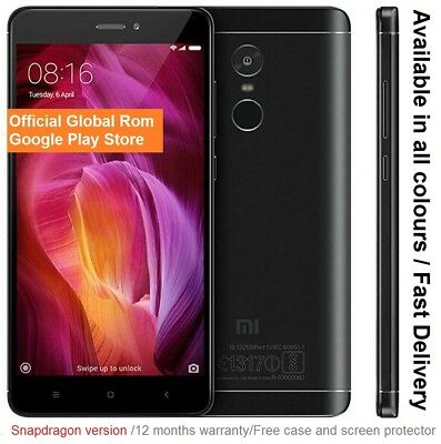 "Xiaomi Redmi Note 4x 64GB Smartphone 5.5"" Snapdragon 625 CPU 4GB RAM NEW"
