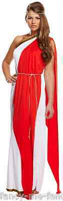 Ladies Sexy Long Roman Lady Toga Greek Goddess Fancy Dress Costume Outfit 8-12