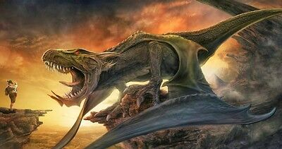 Dinosaurs wallpaper kids room wall with high quality poster Choose your Size