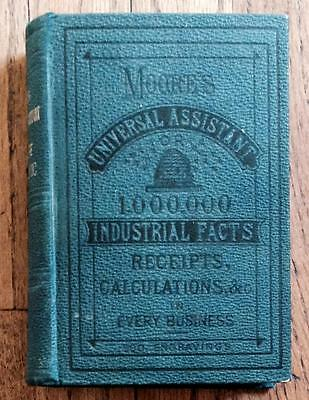 1883 Antique Cookbook Farm Recipes Horse Bees Beer Wine Medical Dyeing Victorian