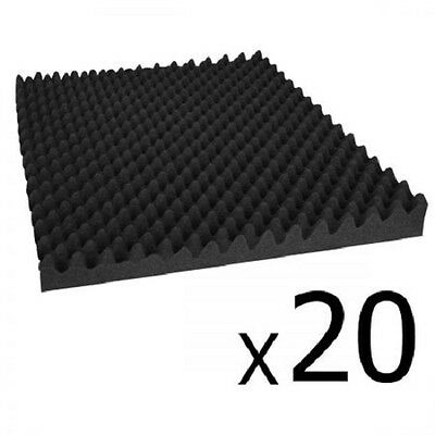 NEW 20x Recording Studio, Home Theatres Eggshell Acoustic Foam - Black 50 x 50cm