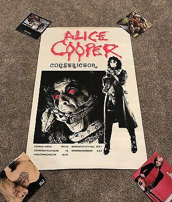 "Huge 40""x60"" Alice Cooper Constrictor UK Tour Promo Poster Scarce!"