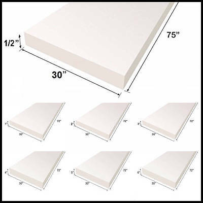 "Upholstery Foam Cushion Sheet 30""x75""   Medium Density Support Premium Quality"