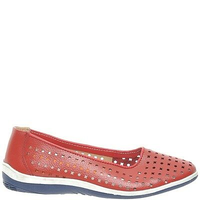 Comfort Me Madrid Womens Leather Everyday Shoe - Red