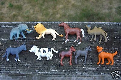 Safari Ltd Toob Animals + Others Lot of PVC Miniatures Lion Donkey Camel Cow