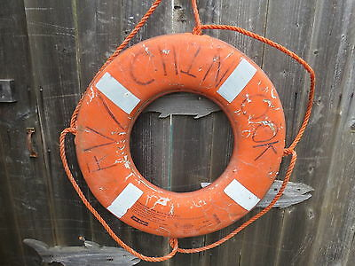 24 inch UGLY SUN DAMAGED LIFE PRESERVER RING SAVER FLOAT BUOY BOUY (#93)