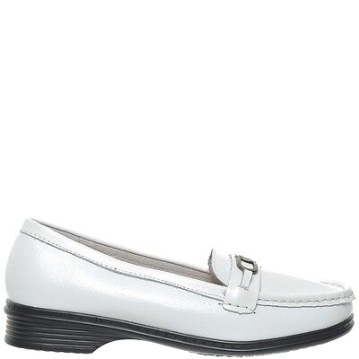Comfort Me Never Womens Leather Everyday Shoe - White