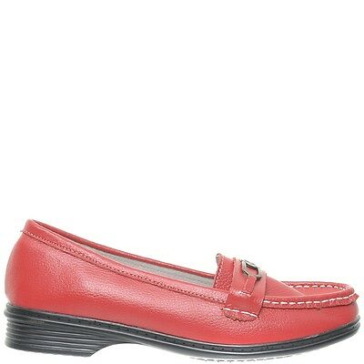 Comfort Me Never Womens Leather Everyday Shoe - Red