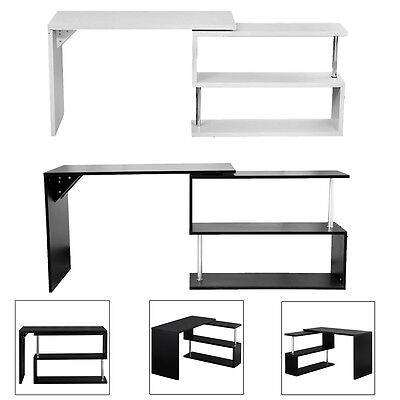 New Modern Designer Computer Corner Desk PC Study Table Home Office Furniture