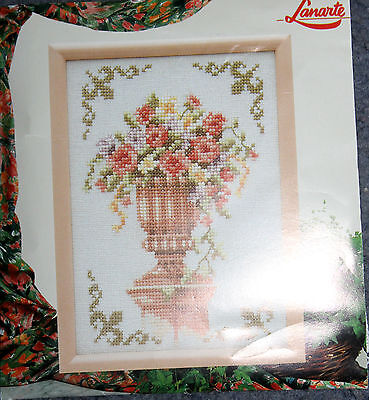 New in Packet LANARTE DMC Embroidery  KIT  flowers
