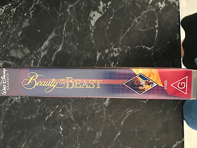 Walt Disney Beauty and the Beast VHS Video rare 1992 with extra's