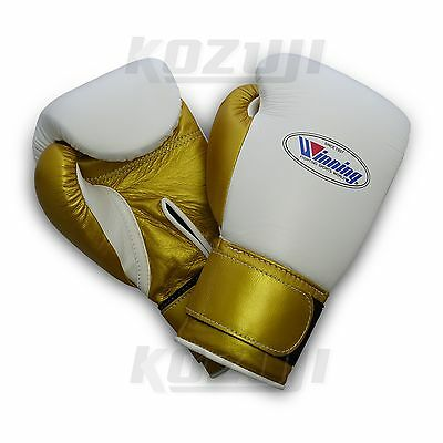 Winning Pro Boxing Gloves MS-400-B Custom, 12oz VeIcro Design, New from Japan