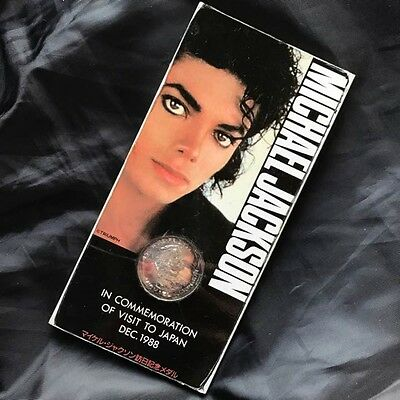 Very Rare! Michael Jackson Visit To Japan DEC.1988 Sterling Silver Medal