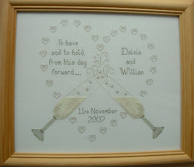 To Have & To Hold(WG1) Wedding Sampler Cross Stitch Kit-Ideal gift to stitch