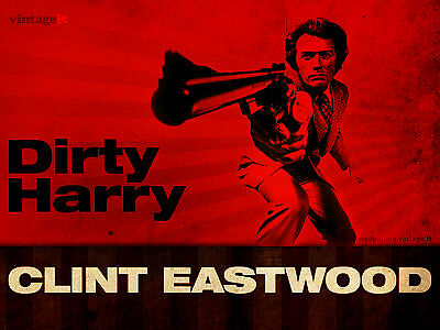 Dirty Harry - Clint Eastwood  Art DIY Home Decor Poster Choose your Size