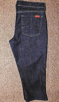 7 For All Mankind Jeans - Capri - Trouser Style Pockets - Stretch - Size 28