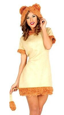 4fd0987c8 Ladies Sexy Cowardly Lion Animal Halloween Fancy Dress Costume Outfit UK  12-14