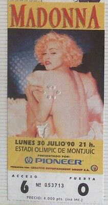 Madonna : Ticket Original !!!! (Barcelona 1990) Spain  !!!!!!