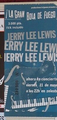 Jerry Lee Lewis : Ticket Original !!!! (Barcelona 1990)  Spain !!!!!!
