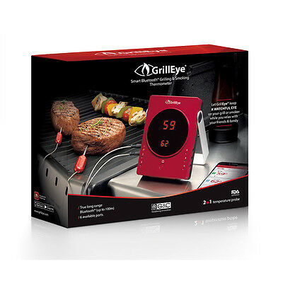 GrillEye Smart Bluetooth Grill Barbecue Thermometer & Probe for iOS and Android
