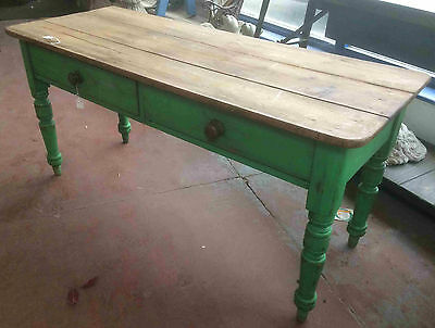 Solid Pine Victorian Two Drawer Table