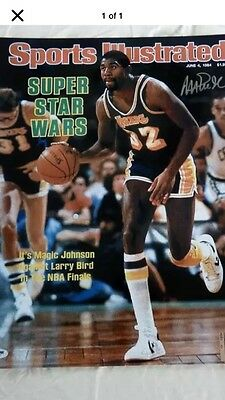 Magic Johnson Sports Illustrated Print 6/4/84 Signed Autographed 16X20 Psa