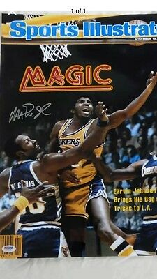 Magic Johnson Sports Illustrated Print 11/19/79 Signed Autographed 16X20 Psa