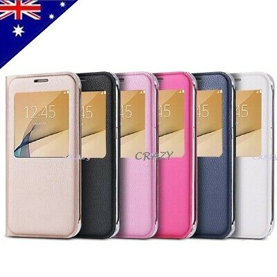 For Samsung Galaxy J5 Prime   J7 Prime New Smart S-view Flip Leather Case